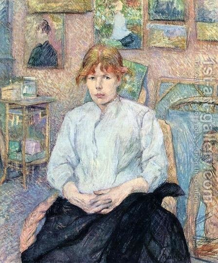 The Redhead with a White Blouse by Toulouse-Lautrec - Reproduction Oil Painting