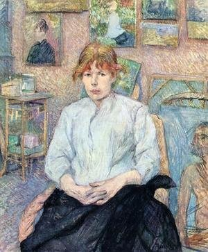 Reproduction oil paintings - Toulouse-Lautrec - The Redhead with a White Blouse
