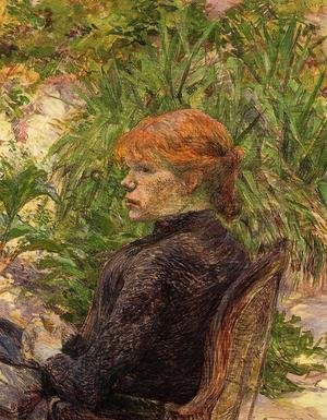 Reproduction oil paintings - Toulouse-Lautrec - Red Haired Woman Seated in the Garden of M. Forest