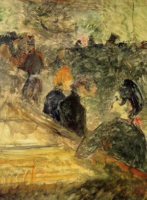 Reproduction oil paintings - Toulouse-Lautrec - A Ball at the Moulin de la Galette