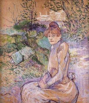 Reproduction oil paintings - Toulouse-Lautrec - Woman in Monsieur Forest's Garden