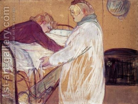 Two Women Making the Bed by Toulouse-Lautrec - Reproduction Oil Painting