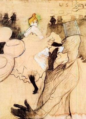 Reproduction oil paintings - Toulouse-Lautrec - Le Goulue and Valentin, the 'Boneless One'