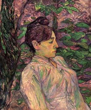Reproduction oil paintings - Toulouse-Lautrec - Woman Seated in a Garden
