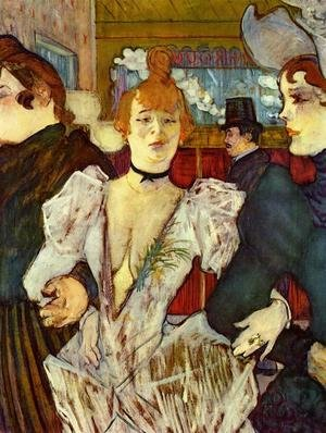 Reproduction oil paintings - Toulouse-Lautrec - La Goulue Arriving at the Moulin Rouge with Two Women