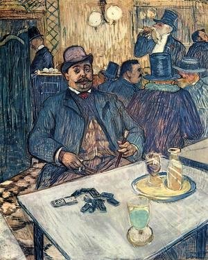 Reproduction oil paintings - Toulouse-Lautrec - Monsieur Boleau in a Cafe