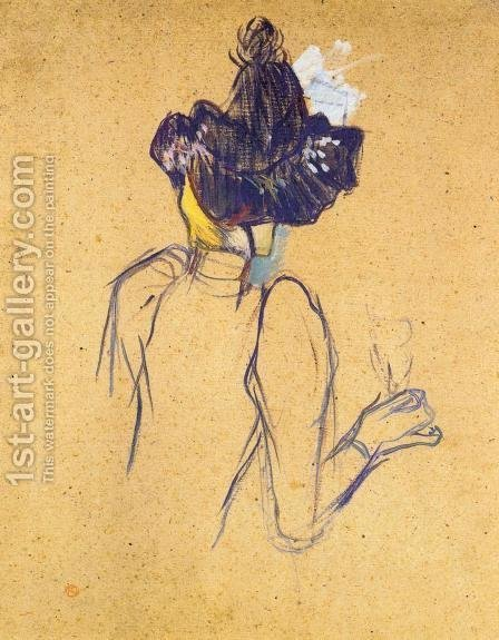 Jane Avril Seen from the Back by Toulouse-Lautrec - Reproduction Oil Painting