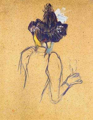 Reproduction oil paintings - Toulouse-Lautrec - Jane Avril Seen from the Back