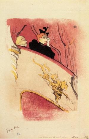Reproduction oil paintings - Toulouse-Lautrec - The Box with the Guilded Mask