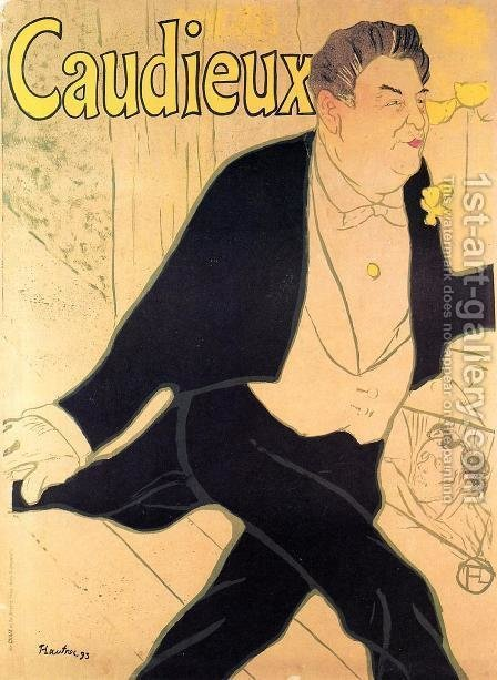 Caudieux by Toulouse-Lautrec - Reproduction Oil Painting