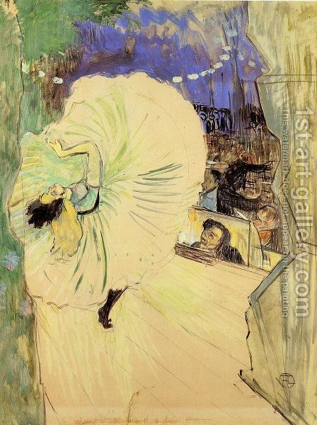 The Cartwheel by Toulouse-Lautrec - Reproduction Oil Painting