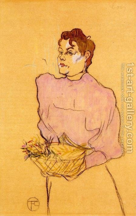 The Flower Seller by Toulouse-Lautrec - Reproduction Oil Painting