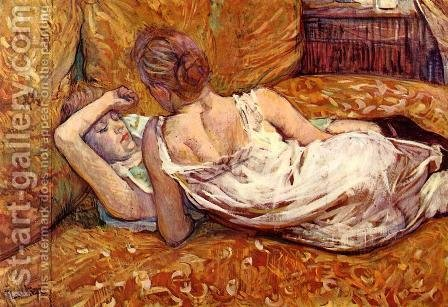 Devotion: the Two Girlfriends by Toulouse-Lautrec - Reproduction Oil Painting