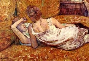 Reproduction oil paintings - Toulouse-Lautrec - Devotion: the Two Girlfriends