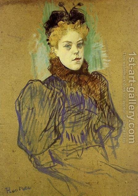 May Milton 2 by Toulouse-Lautrec - Reproduction Oil Painting