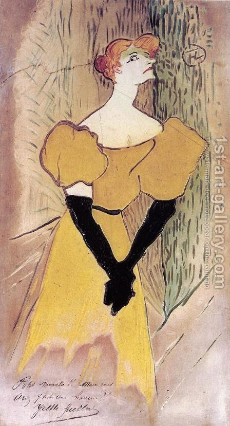 Yvette Guilbert by Toulouse-Lautrec - Reproduction Oil Painting