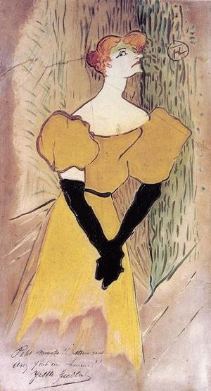 Reproduction oil paintings - Toulouse-Lautrec - Yvette Guilbert