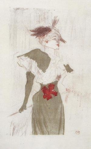 Reproduction oil paintings - Toulouse-Lautrec - Mademoiselle Marcelle Lender, Standing