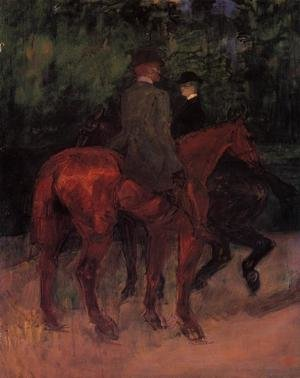 Reproduction oil paintings - Toulouse-Lautrec - Man and Woman Riding through the Woods