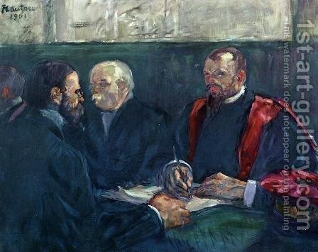 An Examination at the Faculty of Medicine, Paris by Toulouse-Lautrec - Reproduction Oil Painting