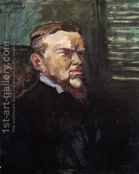 Portrait of Octave Raquin by Toulouse-Lautrec - Reproduction Oil Painting