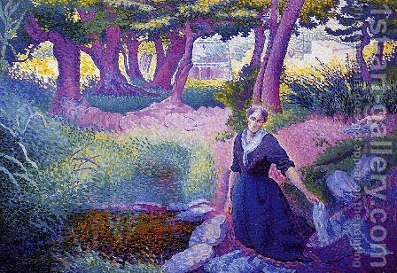 The Washerwoman by Henri Edmond Cross - Reproduction Oil Painting
