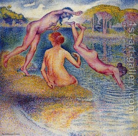 Bathers I by Henri Edmond Cross - Reproduction Oil Painting