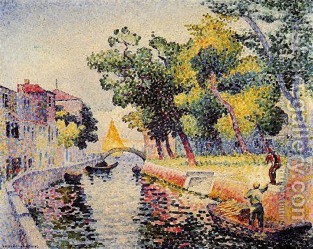 Ponte San Trovaso by Henri Edmond Cross - Reproduction Oil Painting