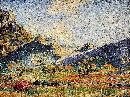 Les Petits, Montagnes Mauresques by Henri Edmond Cross - Reproduction Oil Painting
