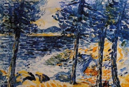 Pines by the Sea by Henri Edmond Cross - Reproduction Oil Painting