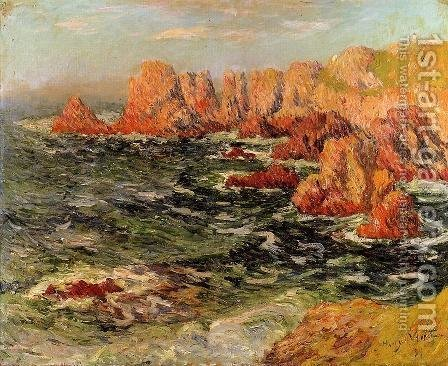 The Breton Coast by Henri Moret - Reproduction Oil Painting