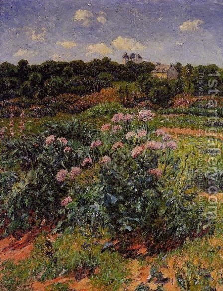 The Garden by Henri Moret - Reproduction Oil Painting