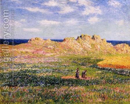 L'Ile d'Ouessant by Henri Moret - Reproduction Oil Painting