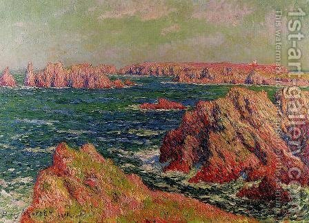 The Cliffs at Belle Ile by Henri Moret - Reproduction Oil Painting