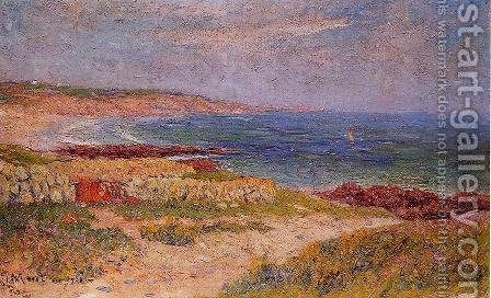 Raguenez Beach, Finistere by Henri Moret - Reproduction Oil Painting