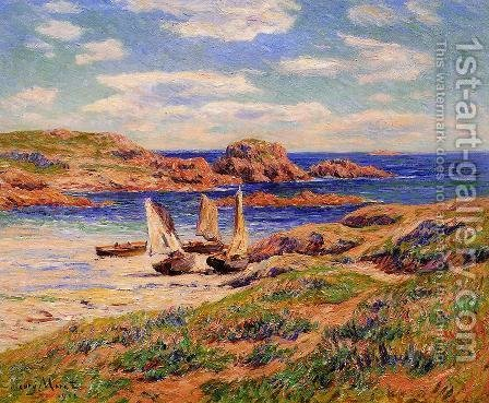 Porspoder, the Port, Finistere by Henri Moret - Reproduction Oil Painting