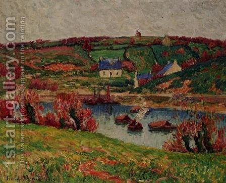 The River at Douaelan-sur-Mer by Henri Moret - Reproduction Oil Painting