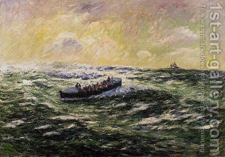 Lifeboat at Audierne by Henri Moret - Reproduction Oil Painting