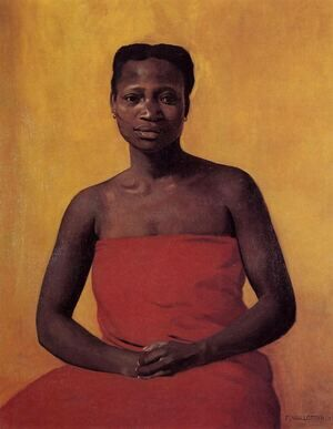 Famous paintings of Black Art: Seated Black Woman, Front View