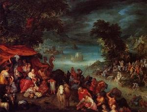 Famous paintings of Flood & High Tide: The Flood with Noah's Ark