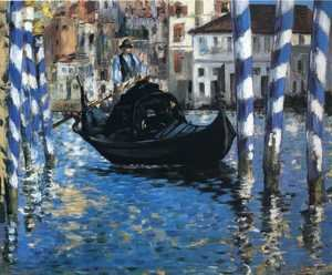 Famous paintings of Ships & Boats: The Grand Canal, Venice I