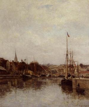 Reproduction oil paintings - Stanislas Lepine - Caen, The Dock of Saint-Pierre