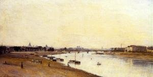 Reproduction oil paintings - Stanislas Lepine - The Pont National as Seen from Quai d'Ivry, Paris