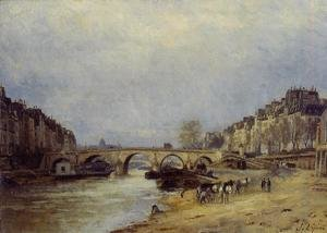 Reproduction oil paintings - Stanislas Lepine - The Seine at Pont Marie