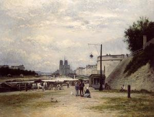Reproduction oil paintings - Stanislas Lepine - The Louviers Quay at Pont Sully