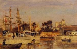 Reproduction oil paintings - Stanislas Lepine - A Corner of the Port, Caen
