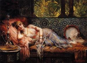 Famous paintings of Furniture: Odalisque