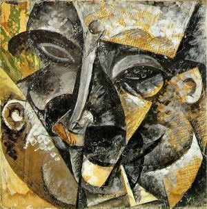 Famous paintings of Figurative: Dynamism of a man's head