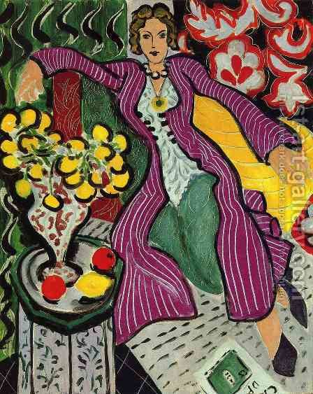 the purple coat by Henri Matisse - Reproduction Oil Painting