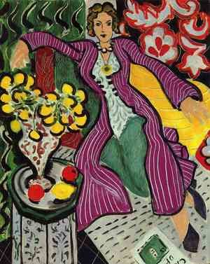 Famous paintings of Vases: the purple coat